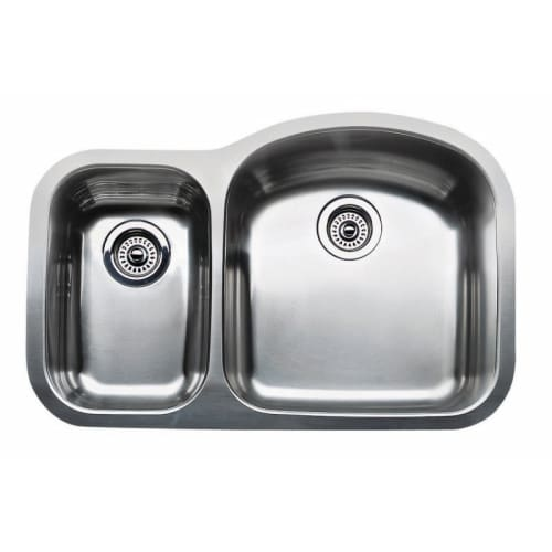 Blanco 440166 Wave 1-1/2 Reverse Double Basin Stainless Steel Kitchen Sink 31 1/2' x 20 7/8'