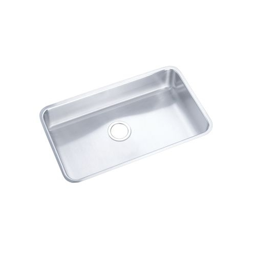 Elkay ELUH281610DBG Gourmet Lustertone Stainless Steel 30-1/2' x 18-1/2' Single Basin Undermount Kitchen Sink with 10' Depth,