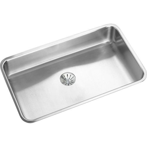Elkay ELUHAD281645PD Gourmet 30-1/2' Single Basin Undermount Stainless Steel Kitchen Sink - Includes Perfect Drain Assembly