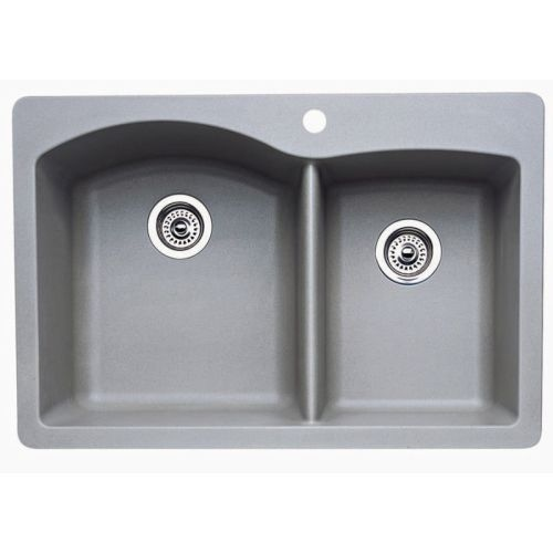 Blanco 440214 Diamond 1-3/4 Basin Silgranit Kitchen Sink 33' x 22'