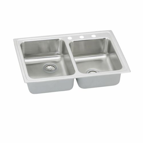 Elkay PSRQ250 Pacemaker 33' Double Basin Drop In Stainless Steel Kitchen Sink