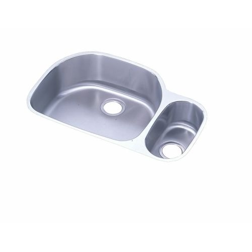 Elkay ELUH322110R Harmony 31-1/2' Double Basin 18-Gauge Stainless Steel Kitchen Sink for Undermount Installations with 80/20
