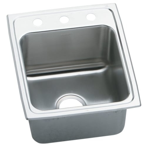 Elkay DLRQ172010 Gourmet 17' Single Basin Drop In Stainless Steel Kitchen Sink