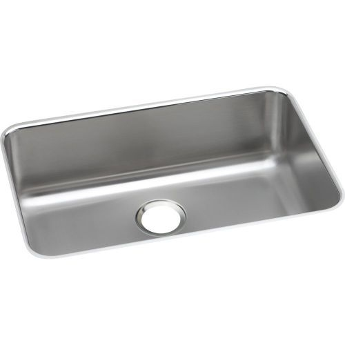 Elkay ELUH2416 Gourmet 24' Single Basin Undermount 18 Gauge Stainless Steel Sink with SoundGuard Technology