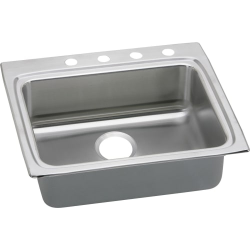 Elkay LRAD252265 Gourmet 25' Single Basin Drop In Stainless Steel Kitchen Sink