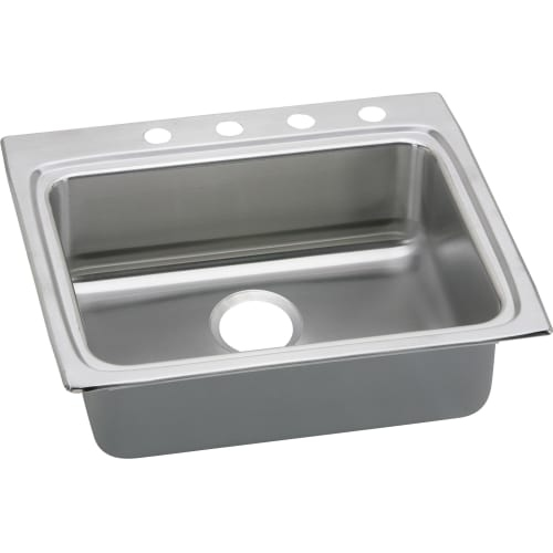 Elkay LRADQ252240 Gourmet 25' Single Basin Drop In Stainless Steel Kitchen Sink