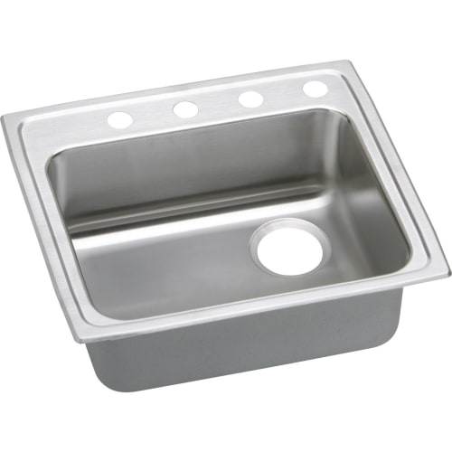 Elkay LRAD252140R Gourmet 25' Single Basin Drop In Stainless Steel Kitchen Sink
