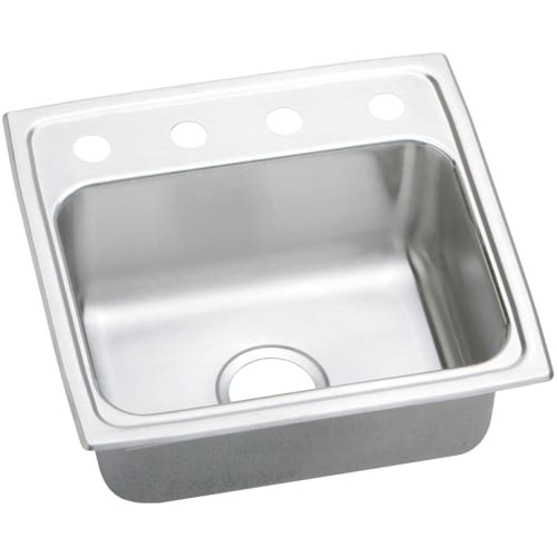 Elkay LRQ1918 Gourmet 19' Single Basin Drop In Stainless Steel Kitchen Sink - no faucet holes - Two holes