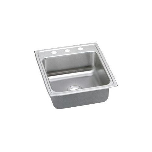 Elkay LRADQ202260 Gourmet 19-1/2' Single Basin Drop In Stainless Steel Kitchen Sink