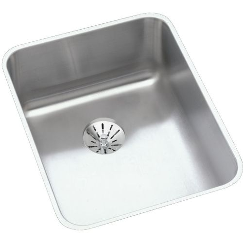 Elkay ELUHAD141850PD Gourmet 16-1/2' Single Basin Undermount Stainless Steel Kitchen Sink - Includes Perfect Drain Assembly