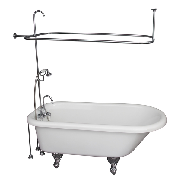 Acrylic Shower and Tub Kit by Barclay - 60' x 29.5' Soaking Bathtub Kit