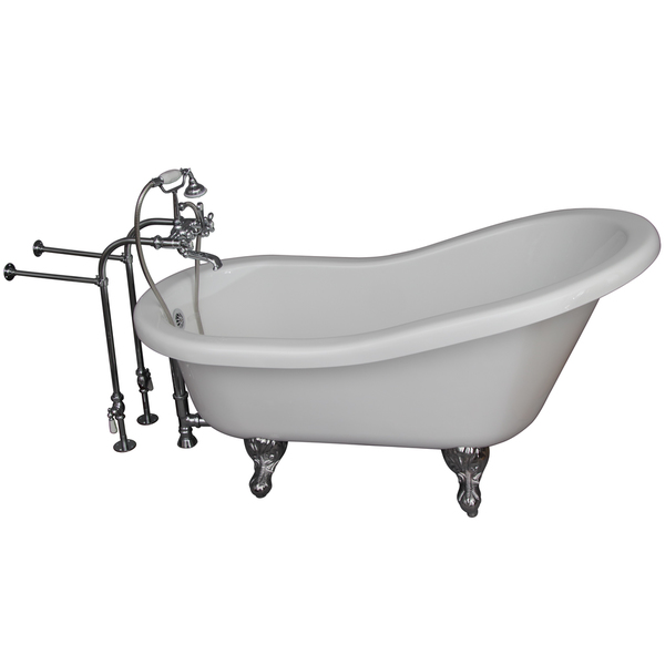 5.6-foot Acrylic Ball and Claw Feet Tub in White - 5.6 ft. Acrylic Ball and Claw Feet Tub in White