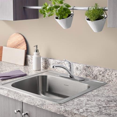 American Standard 7074 Colony Pro Single Handle Kitchen Faucet   Includes Escutcheon  Plate